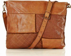 MARCO MAZZINI hnědá kožená kabelka (v22d) Velikost: univerzální