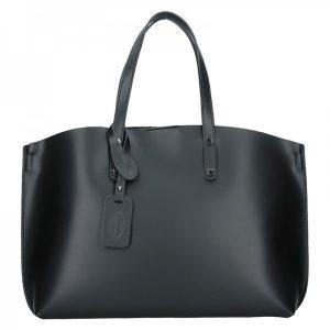 Dámská kožená kabelka Vera Pelle Lili – černá
