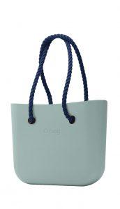 O bag kabelka Verde Antico s tmavě modrými dlouhými provazy