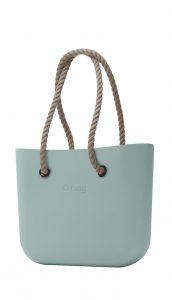 O bag kabelka Verde Antico s dlouhými provazy natural