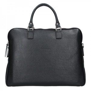 Unisex kožená taška na notebook Facebag Milano – černá