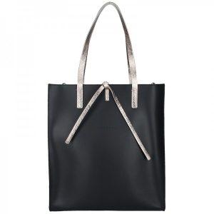 Dámská kožená kabelka Facebag Elmo – černo-zlatá