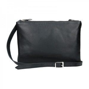 Trendy dámská kožená crossbody kabelka Facebag Beatrice – černá