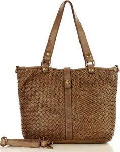 Hnědobéžová kožená kabelka MARCO MAZZINI (v1e) Velikost: univerzální