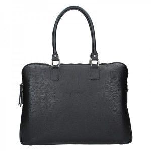 Dámská kožená taška na notebook Facebag Milanos – černá