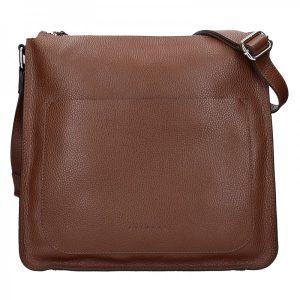 Dámská kožená kabelka Facebag Lima – tmavě hnědá