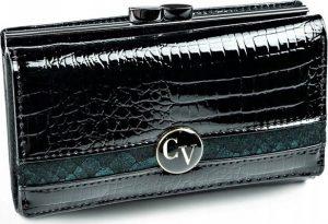 4U CAVALDI dámská černá kožená peněženka (H23-2-RSD BLACK BLUE) Velikost: univerzální