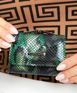 LORENTI kožená zelená peněženka RFID (55287-MSN GREEN) Velikost: univerzální