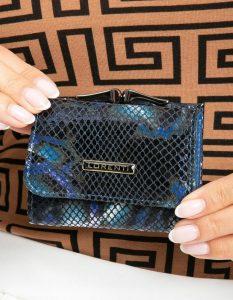 Lorenti kožená modrá peněženka (55287-MSN BLUE) Velikost: univerzální