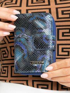 Lorenti kožená modrá peněženka (76115-MSN BLUE) Velikost: univerzální