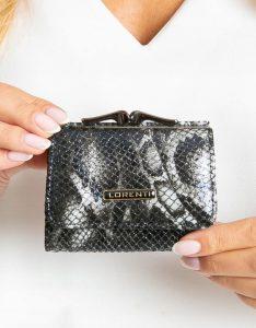 Lorenti kožená černá peněženka RFID (55287-MSN BLACK) Velikost: univerzální