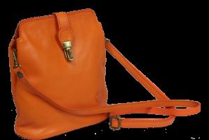 Malé kožené kabelky Piazza Arancione