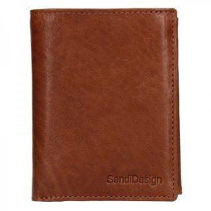 Pánská kožená peněženka SendiDesign Josef – koňak