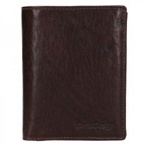 Pánská kožená peněženka SendiDesign Josef – hnědá