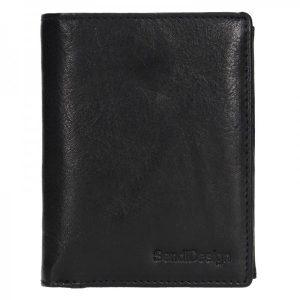 Pánská kožená peněženka SendiDesign Josef – černá
