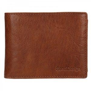 Pánská kožená peněženka SendiDesign Jaromír – koňak