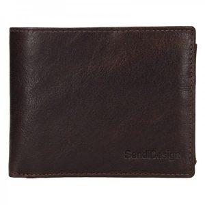 Pánská kožená peněženka SendiDesign Jaromír – hnědá