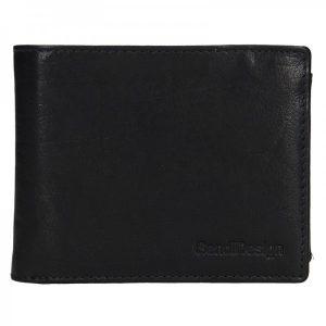 Pánská kožená peněženka SendiDesign Jaromír – černá