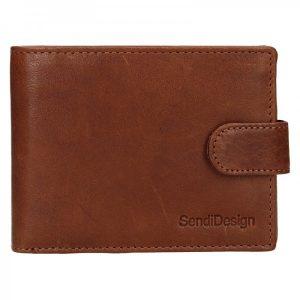 Pánská kožená peněženka SendiDesign Robert – koňak