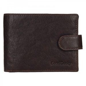 Pánská kožená peněženka SendiDesign Robert – hnědá