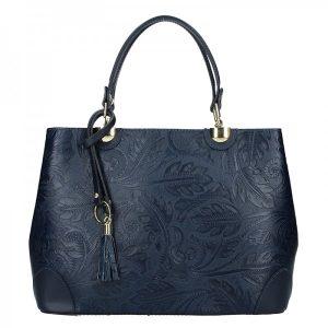 Dámská kožená kabelka Vera Pelle Apolen – modrá