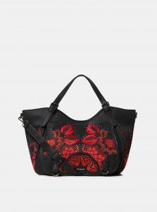 Černá kabelka s květovaným vzorem Desigual