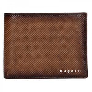 Pánská kožená peněženka Bugatti Quiddo – hnědá
