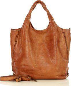 MARCO MAZZINI prostorná shopper kabelka – hnědá (v48a) Velikost: univerzální