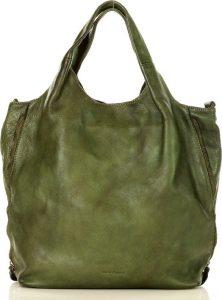 MARCO MAZZINI prostorná shopper kabelka – zelená (v48c) Velikost: univerzální