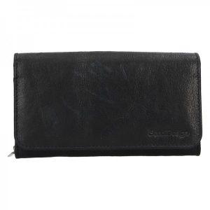 Dámská kožená peněženka SendiDesign Monic – černá