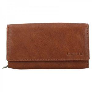 Dámská kožená peněženka SendiDesign Aneta – koňak