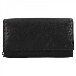 Dámská kožená peněženka SendiDesign Aneta – černá