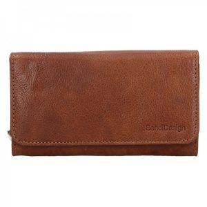 Dámská kožená peněženka SendiDesign Monic – koňak
