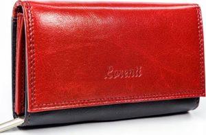 LORENTI Černočervená peněženka (LT-06-BCF RED) Velikost: univerzální