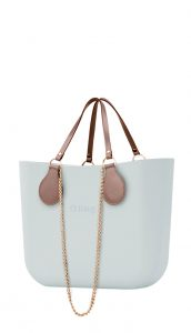 O bag kabelka Polvere s řetízkovými držadly a pudrovou koženkou
