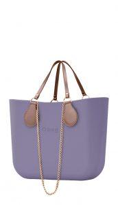 O bag kabelka Lila s řetízkovými držadly a pudrovou koženkou