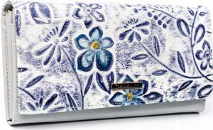 4U Cavaldi peněženka se vzorem květin (PN24-FL W.PURPLE) Velikost: univerzální
