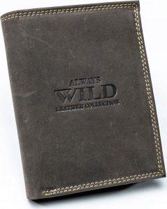 ALWAYS WILD Hnědá pánská peněženka (002-MH BROWN) Velikost: univerzální
