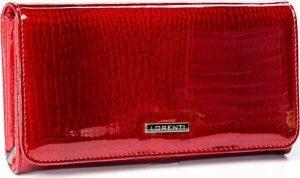 LORENTI Červená lakovaná peněženka (1077-RS RED) Velikost: univerzální