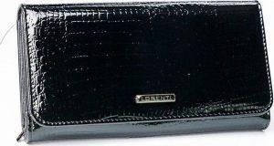 LORENTI Černá lakovaná peněženka (1077-RS BLACK) Velikost: univerzální