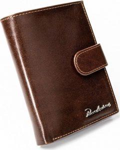 PIERRE ANDREUS Hnědá peněženka z přírodní kůže (PA-D1072L-VT BROWN) Velikost: univerzální