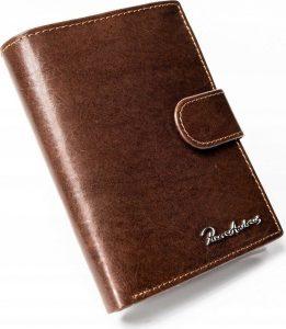 PIERRE ANDREUS Černá kožená peněženka (PA-N104L-VT BROWN) Velikost: univerzální