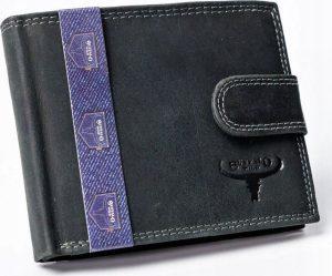 BUFFALO WILD Černá kožená peněženka (N992L-B-MHU BLACK) Velikost: univerzální