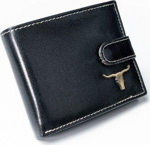 BUFFALO WILD Černá kožená peněženka (RM-05L-BAW 2 BLACK) Velikost: univerzální