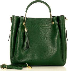 MARCO MAZZINI zelená shopper kabelka (370k) Velikost: univerzální