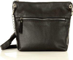 MARCO MAZZINI Elegantní černá kožená brašna (L180a) Velikost: univerzální