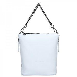 Dámská kožená kabelka Facebag Marta – bílá