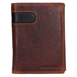 Pánská kožená peněženka SendiDesign Ulrich – hnědo-černá