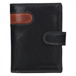 Pánská kožená peněženka SendiDesign Sebastian – černo-hnědá