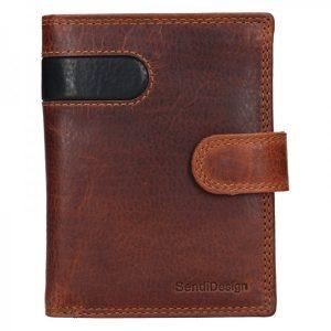 Pánská kožená peněženka SendiDesign Sebastian – hnědo-černá